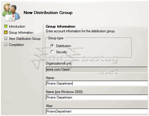 exchange server 2007 Distribution Group