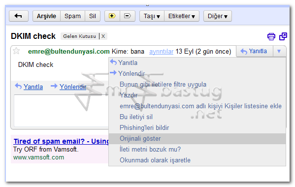 Domain Key ıdentified Mail