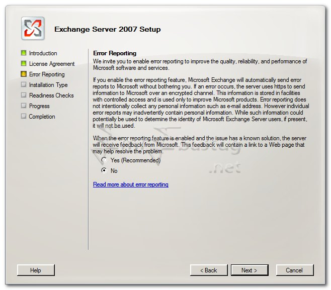 exchange server 2007 kurulumu