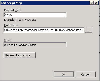 Edit Script Map with Appcmd.exe