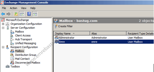 exchange server 2007 mailbox kurtarma