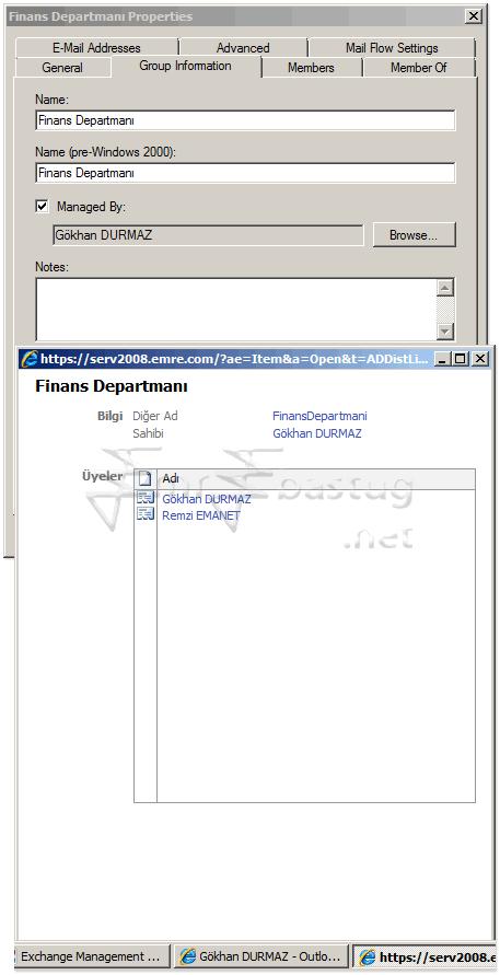 exchange server 2007 Distribution Group